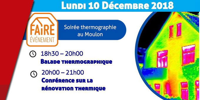 Balade thermographie - Quartier du Moulon à Bourges